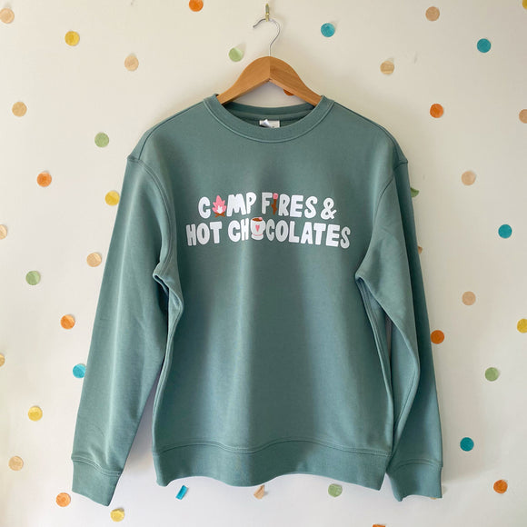 Camp fires and hot chocolates Sweater - IN STOCK