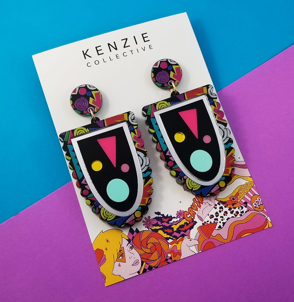 Rainbow is the new black Dangles - Kenzie Collective
