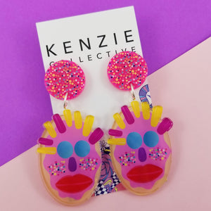 Sprinkle cheeks Dangles - Kenzie Collective