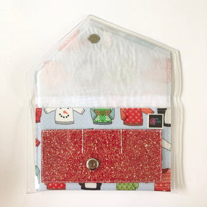 Baby it's hot outside - Glitter pocket clutch