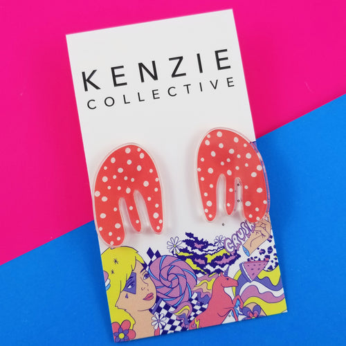 Whimsical Wednesday Coral Studs - Kenzie Collective