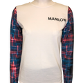 Neon Sleeve White Sweatshirt-Shop Manilow