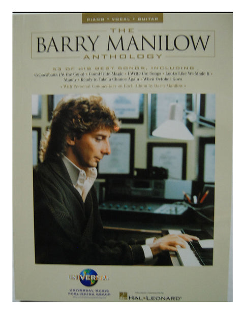 The Barry Manilow Anthology Music Book - Shop Manilow - Barry Manilow