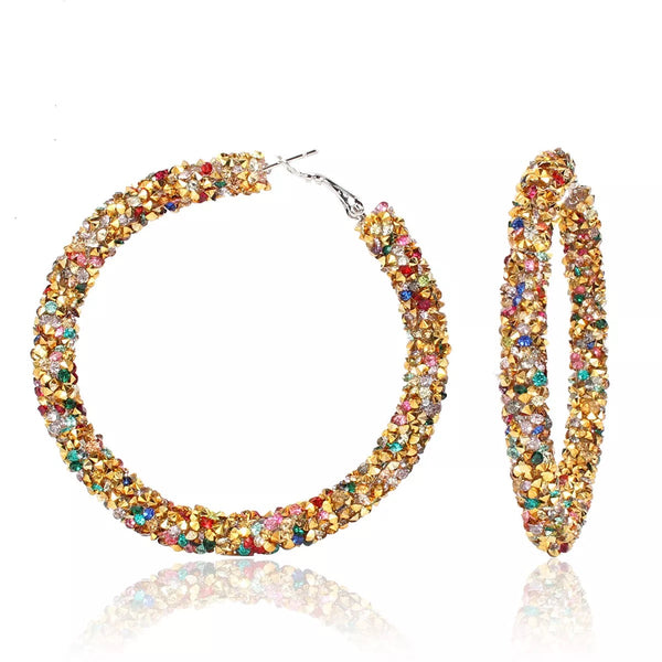 Fashion Hoop Bling Earrings for Women