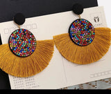 Bohemian Tassel Statement Drop Earrings