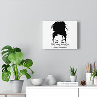 Messy Bun Wall Canvas Artwork