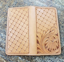 Load image into Gallery viewer, Wallet - Tooled Leather Checkbook Cover
