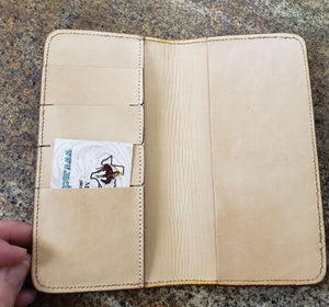 Wallet - Tooled Leather Checkbook Cover