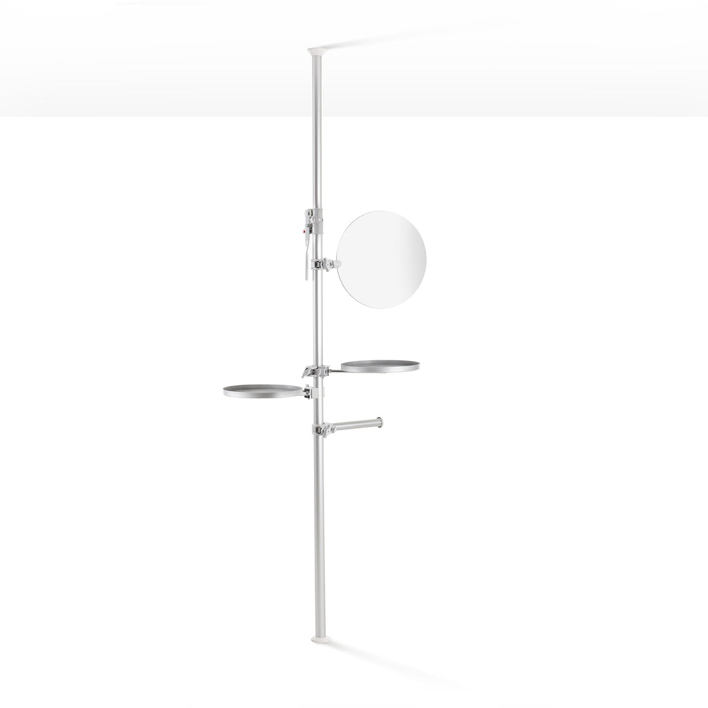 ALEXA Autopole Mirror, Shelves and Hang bar