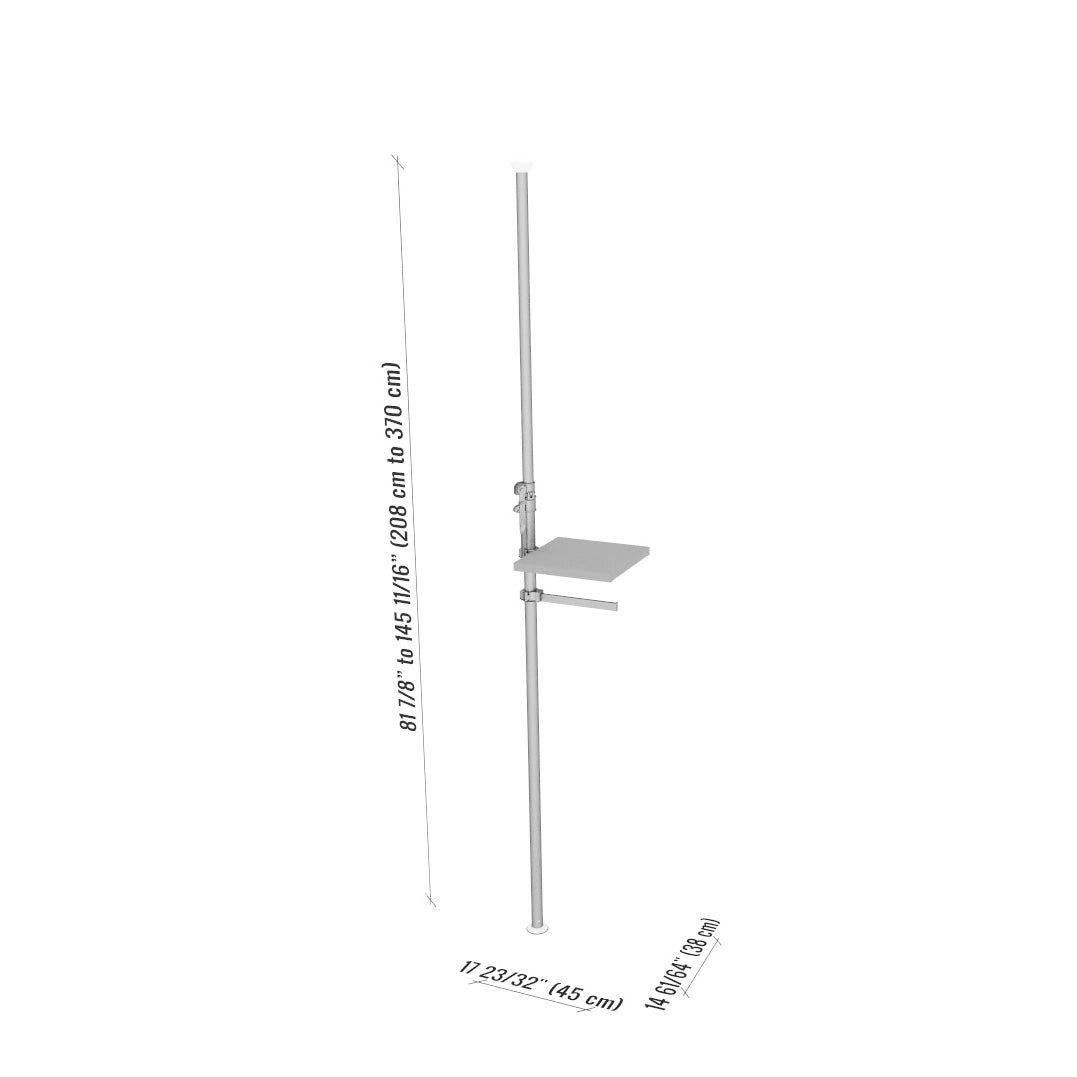 AMY Autopole Shelf and Hang bar