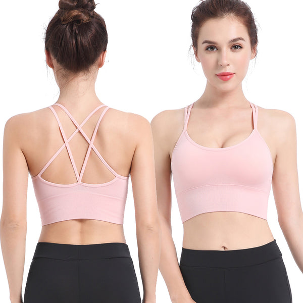 Women Gym Fashion Bra Yoga Padded Stretch Yoga breathable Back Sexy Sport Girls Bra Fitness Tops Running Wear