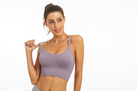 Women Yoga Padded Bra Gym Fashion Stretch Yoga Top Breathable Sexy Back Sport Girls Bra Fitness Tops Running Wear - KSTMADE