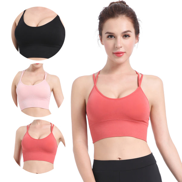 Women Gym Fashion Bra Yoga Padded Stretch Yoga breathable Back Sexy Sport Girls Bra Fitness Tops Running Wear - KSTMADE