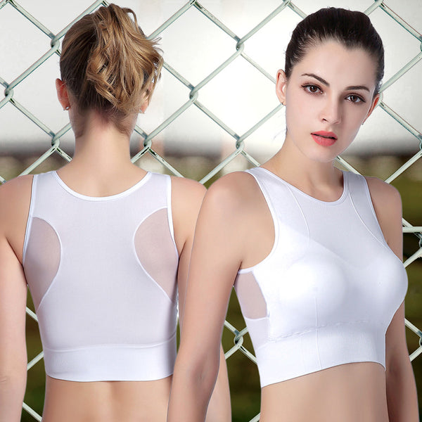 Women Sport Bra Gym Yoga Tops Breathable Sports Bras Shockproof Lady Padded Athletic Gym Yoga Sport Wear