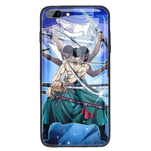 Coque One Piece iPhone <br> Zoro Roronoa Kyutoryu (Verre Trempé)