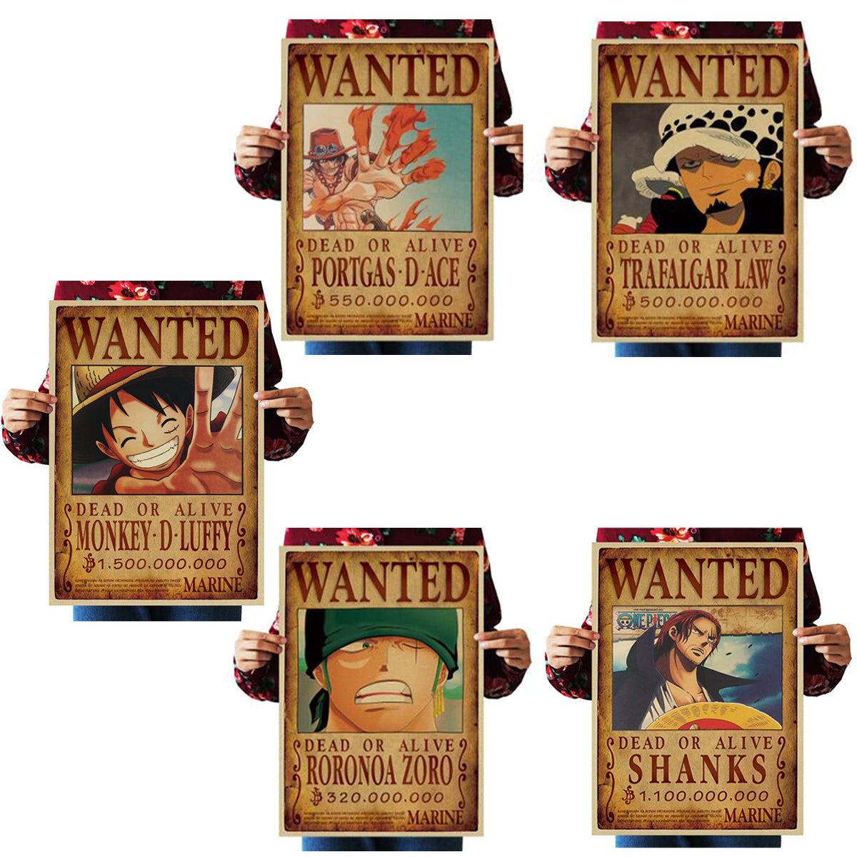 Poster One Piece Wanted <br> Pack Basic