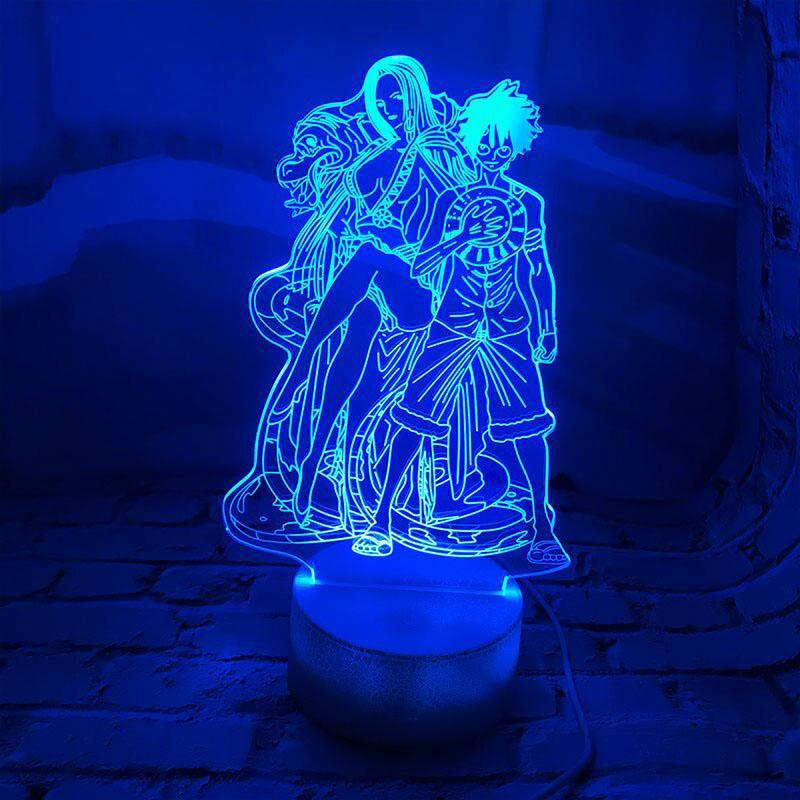 Lampe Acrylique One Piece <br> Boa Hancock et Luffy