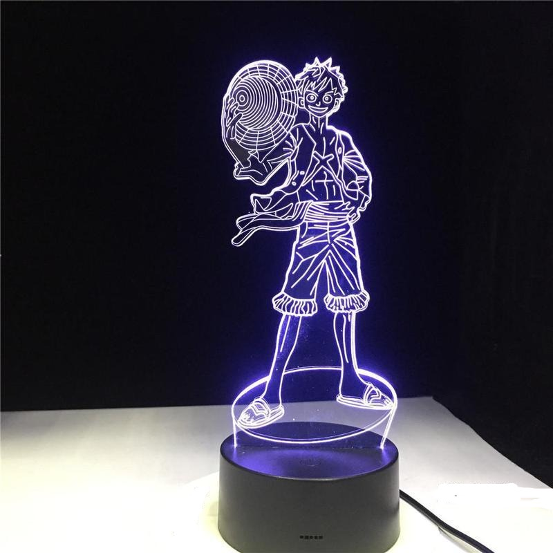Lampe Acrylique One Piece <br> Monkey D. Luffy