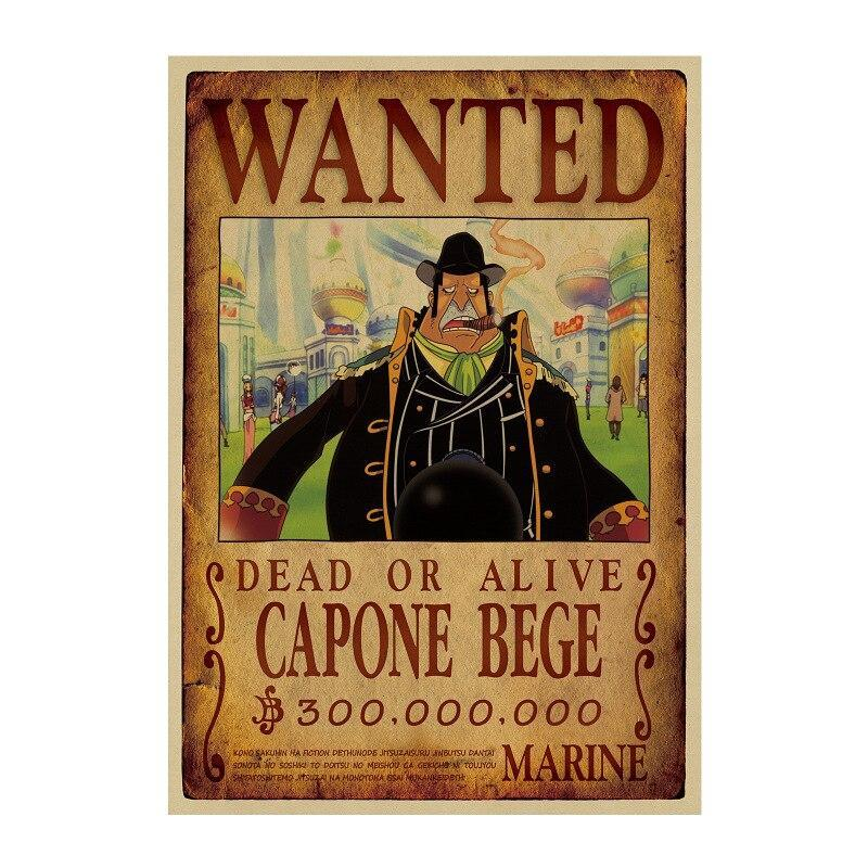 Poster Wanted Bege One Piece