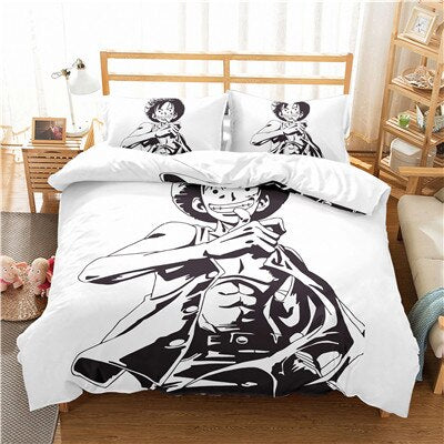 Housse de Couette One Piece <br> Mugiwara No Luffy