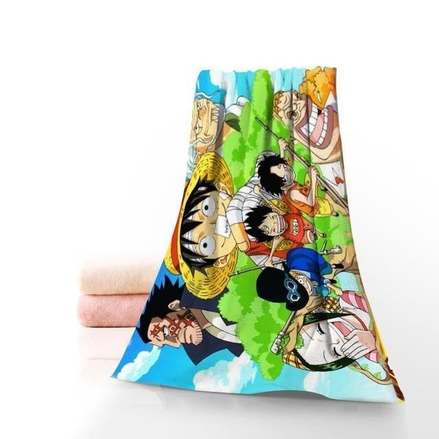 Serviette de Plage One Piece Enfance de Luffy
