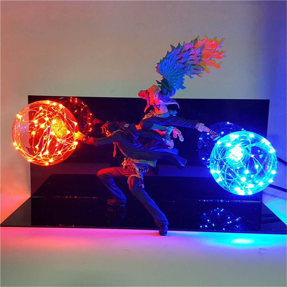 Lampe 3D One Piece <br> Ace et Marco