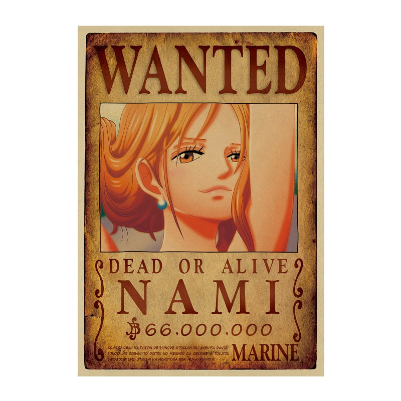 Poster One Piece Wanted <br> Nami