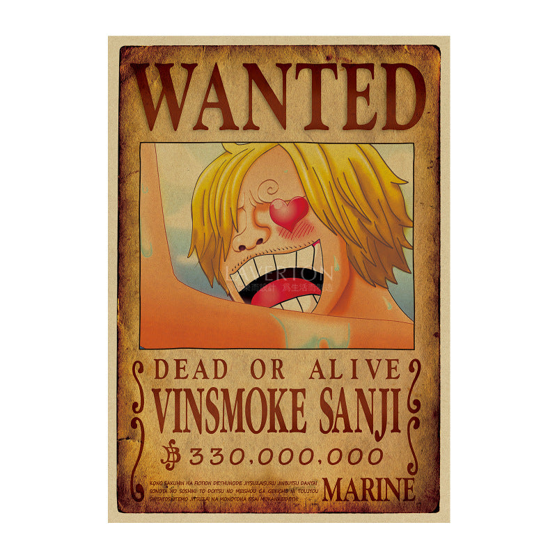 Poster One Piece Wanted <br> Sanji
