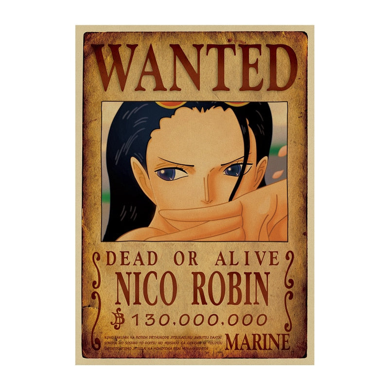 Poster One Piece Wanted <br> Nico Robin