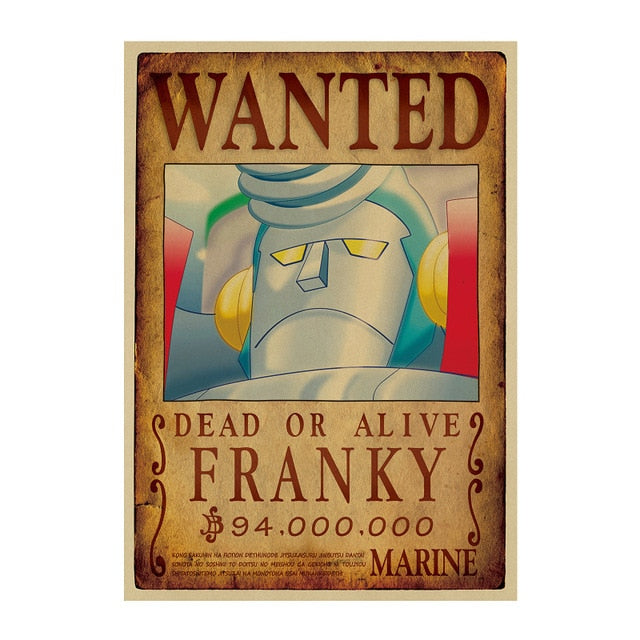 Poster Wanted Franky One Piece