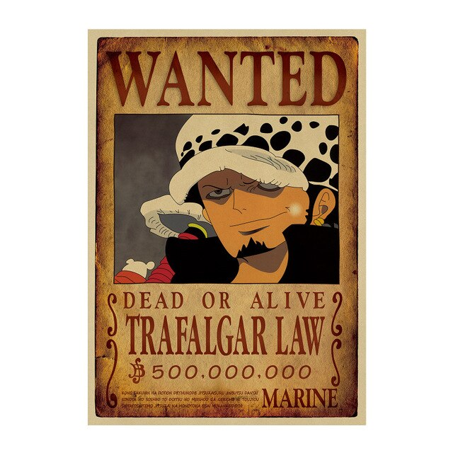 Poster One Piece Wanted <br> Trafalgar Law