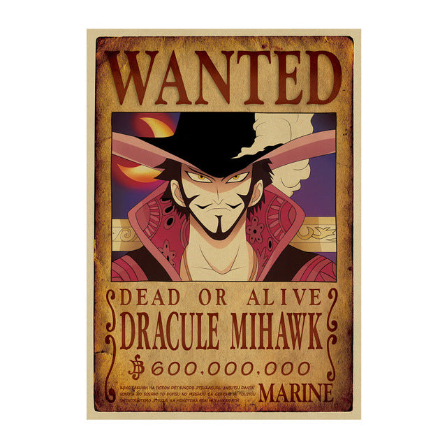 Poster Wanted Mihawk One Piece