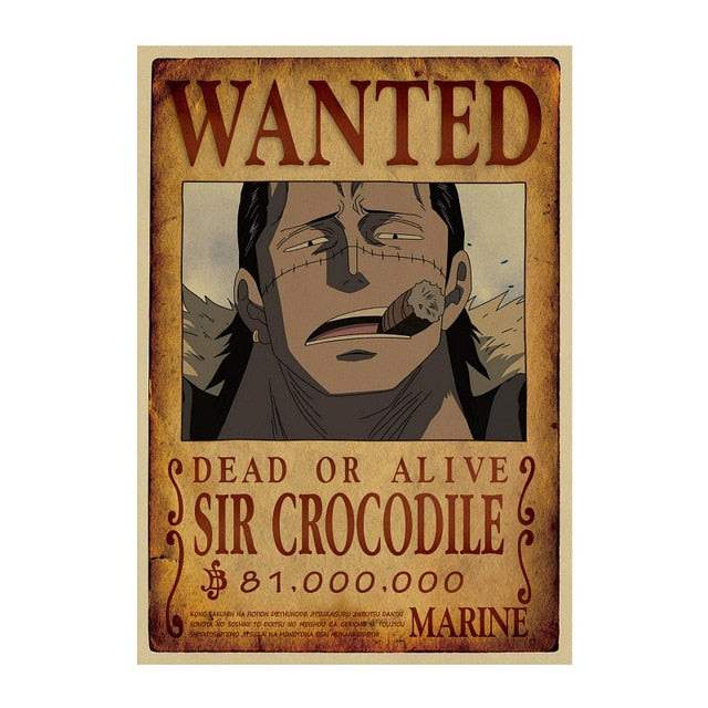 Poster Wanted Sir Crocodile One Piece