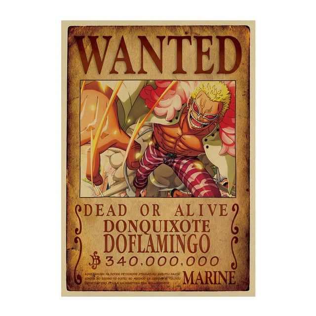 Poster Wanted Doflamingo One Piece