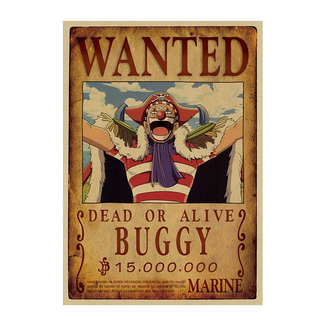Poster One Piece Wanted <br> Baggy