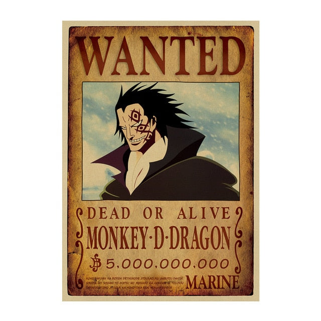 Poster Wanted Dragon One Piece