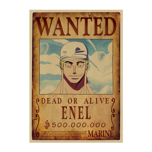 Poster Wanted Enel One Piece