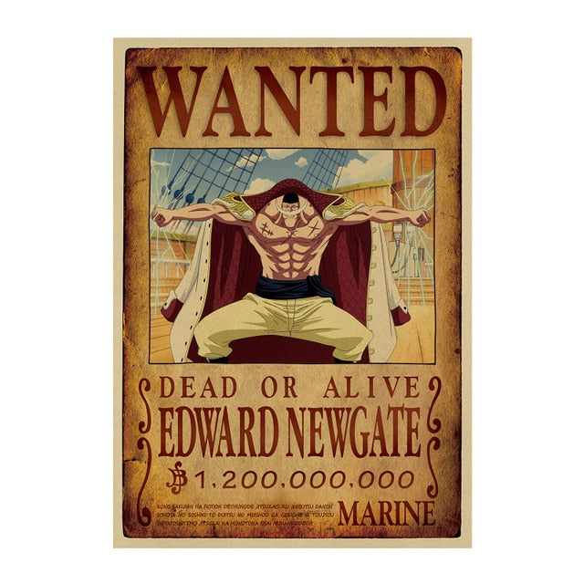 Poster Wanted Barbe Blanche One Piece
