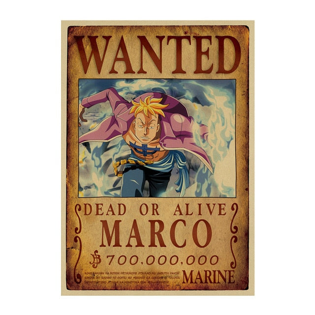 Poster One Piece Wanted <br> Marco