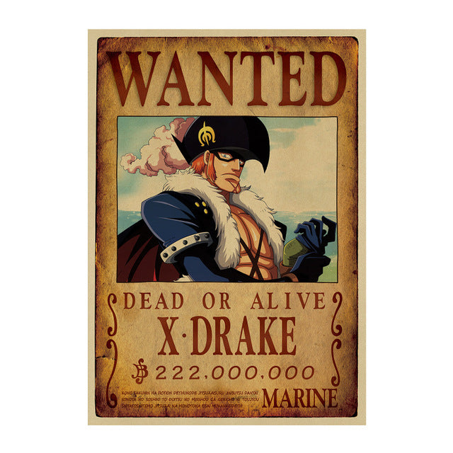 Poster Wanted X-Drake One Piece