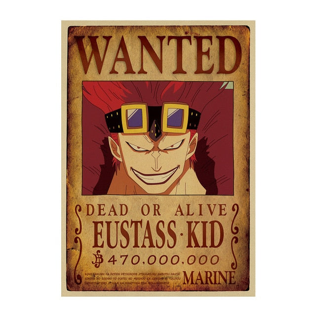 Poster One Piece Wanted <br> Eustass Kid
