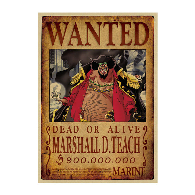 Poster Wanted Barbe Noire One Piece