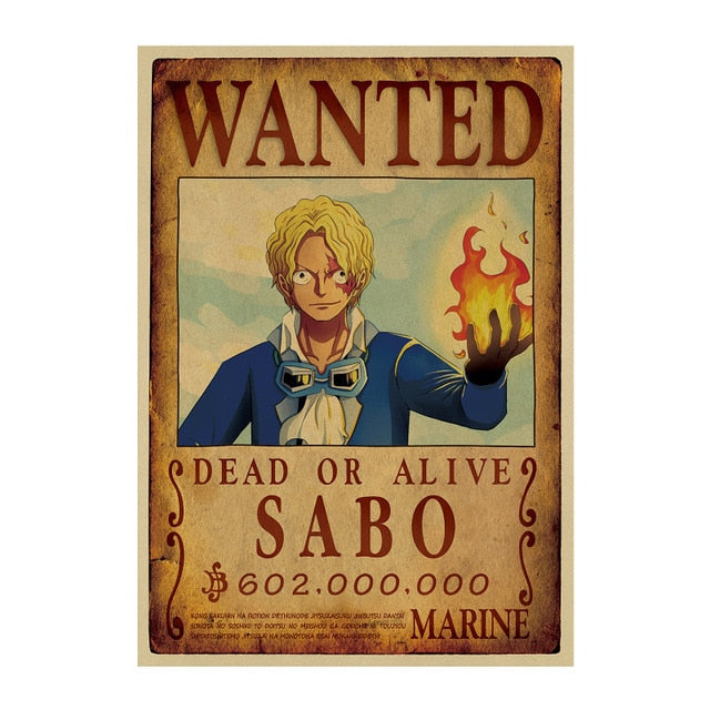Poster One Piece Wanted <br> Sabo