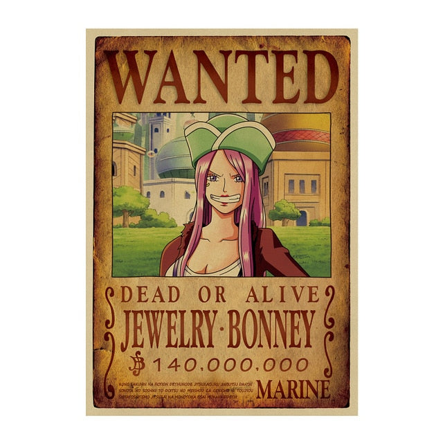 Poster Wanted Jewelry Bonney One Piece