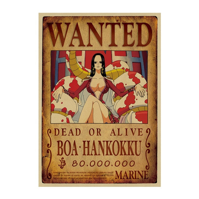 Poster Wanted Hoa Hancock One Piece
