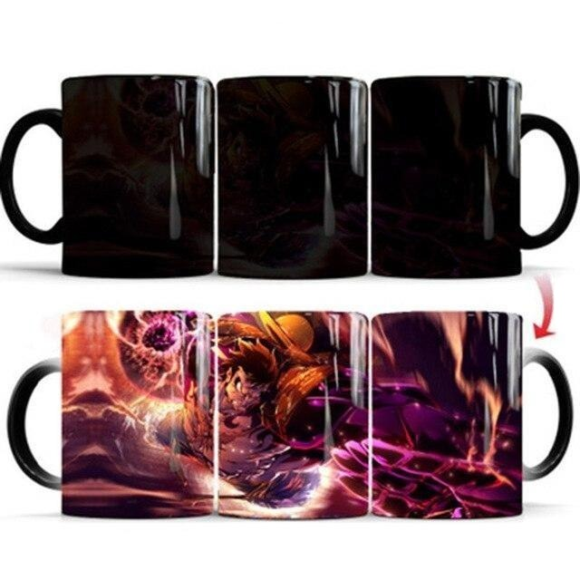 Mug Thermosensible One Piece <br> Luffy Gear 4