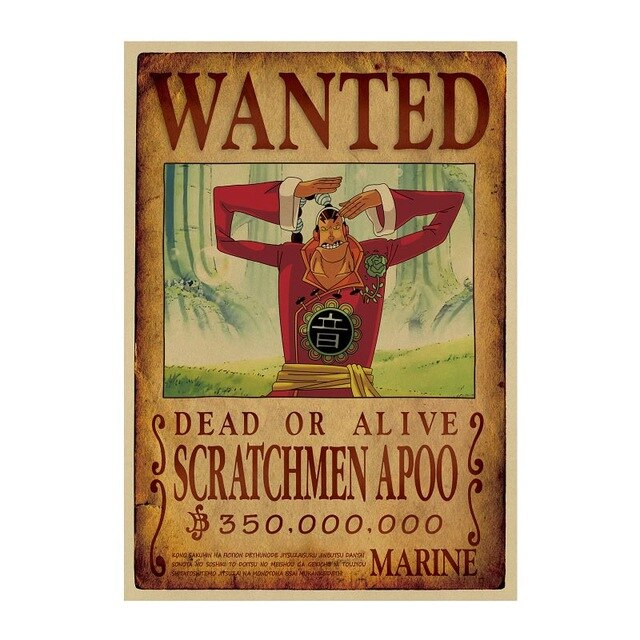 Poster Wanted Scratchmen Apoo One Piece