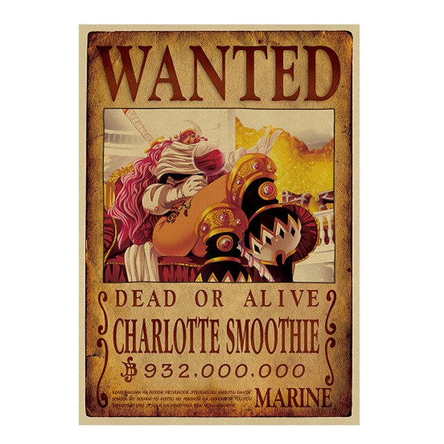 Poster Wanted Smoothie One Piece