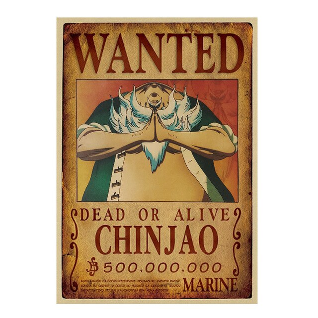 Poster One Piece Wanted Chinjao