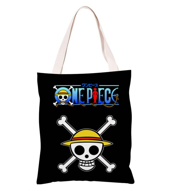 Sac Cabas One Piece <br> Jolly Roger Mugiwara